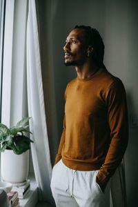 Мъжки пуловери 1 - оранжев